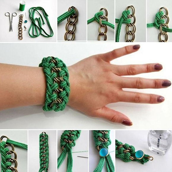 Creative-Chain-And-Rope-Bracelets-DIY-Tutorials copie